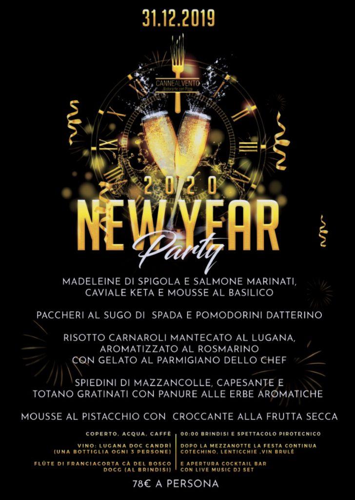 Menù Capodanno 2019 Ristorante Canne Al Vento